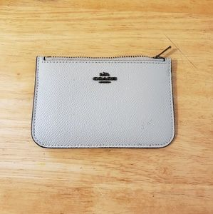 Grey COACH card holder